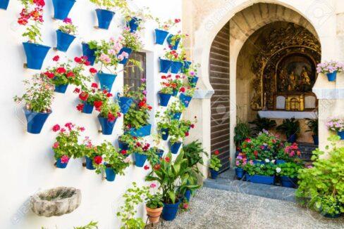42925553-flores-en-maceta-en-las-paredes-en-las-calles-de-cordoba-espana